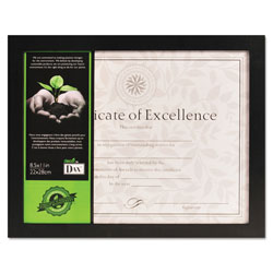 Dax Solid Wood Document/Certificate Frame, 8 1/2 x 11, Easel Back, Black