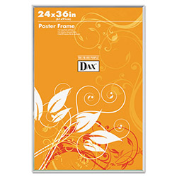 Dax Ultra Contemporary Clear Channel Poster Frame, Plexiglas® Window, 24 x 36