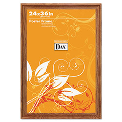 Dax Plastic Poster Frame, Traditional Clear Plastic Window, 24 x 36, Medium Oak