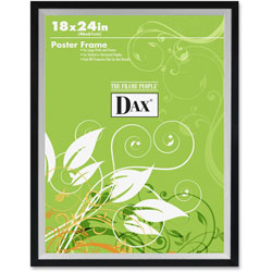 Dax Metro Series Poster Frame, Solid Wood, 18 x 24, Black/Silver