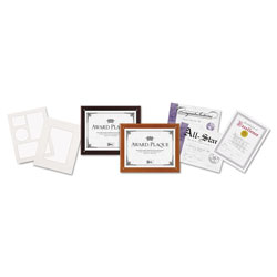 Dax Plaque In An Instant Award Kit with 3 Certificates & 3 Mats, 10 1/2 x 13, Mahogany