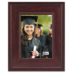 Dax Executive Desktop Document Frame, 5 x 7, Mahogany Finish