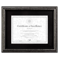 Dax Wood Document Frame with Black Mat, Desk/Wall, 11 x 14, Brushed Charcoal