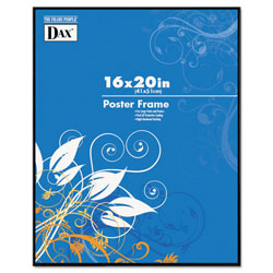 Dax Coloredge Poster Frame, Plexiglas Window, Clear Face/Black Border, 16 x 20