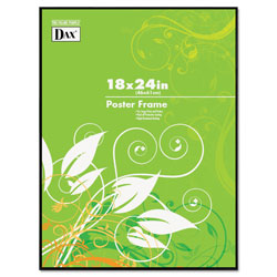 Dax Coloredge Poster Frame, Plexiglas Window, Clear Face/Black Border, 18 x 24
