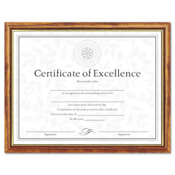 Dax Two Tone Wood Document/Diploma Frame, Maple with Gold Leaf Accents, 8-1/2x11
