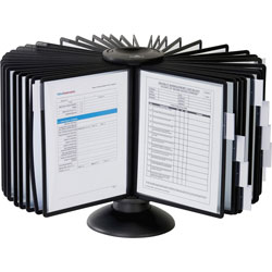Durable Sherpa 40-Panel Carousel Reference System, 80 Sheet Capacity, Black