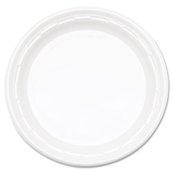 "Dart Impact Disposable 10.25"" Plastic Plates, White, 4 Packs of 125"