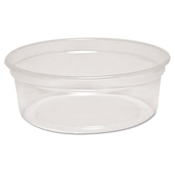 Solo MicroGourmet Food Container, 8 oz, Plastic, Clear, 500/Carton