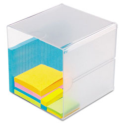 Deflecto Desk Cube, Clear Plastic, 6 x 6 x 6