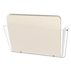 Deflecto One Pocket Unbreakable DocuPocket® Wall File, Letter, Clear, 14 1/2 x 3 x 6 1/2