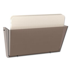 Deflecto One Pocket Unbreakable DocuPocket® Wall File, Letter, Smoke, 14 1/2 x 3 x 6 1/2