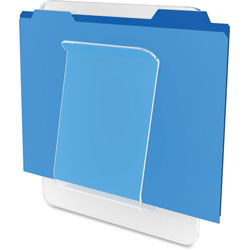"Deflecto File/Chart Holder, 1 Compartment, 10""x2""x10-1/2"", Clear"