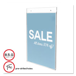 Deflecto Wall Mount Plastic Sign Holder, 8 1/2w x 11h, Clear