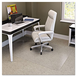 Deflecto RollaMat Studded Beveled Mat for Med/High Pile Carpet, 48w x 60h, Clear