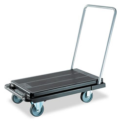 Deflecto Black deflect-o Heavy-Duty Polypropylene Platform Cart with Steel Handle
