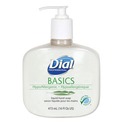 Dial Professional Hypoallergenic Scented Bottled Soap, 16 Oz