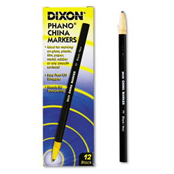 Dixon China Marker, Black, Dozen