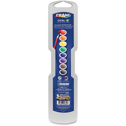 Prang Professional Watercolors, 8 Assorted Colors,Oval Pans