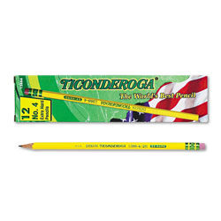 Dixon Ticonderoga Woodcase Pencil, 2H #4, Yellow Barrel, Dozen