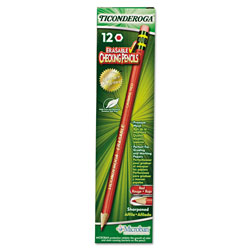 Dixon Ticonderoga Erasable Colored Pencils, 2.6 mm, CME Lead/Barrel, Dozen
