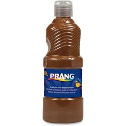 Prang Ready-to-Use Tempera Paint, Brown, 16 oz