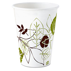 Dixie 8 oz Wise Size Paper Cold Cup, Pathways