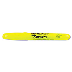 Dixon Ticonderoga Emphasis Desk Style Highlighter, Chisel Tip, Fluorescent, 12 Yellow, 4 Pink Free