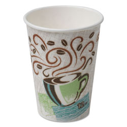 Dixie 12 Oz Hot Paper Cups, Coffee Design, Pack of 500
