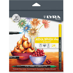 LYRA Dual Tip Marker, Assorted, 24 per Pack