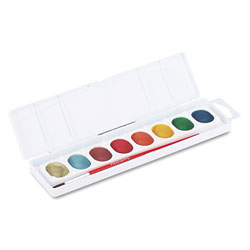 Prang Metallic Washable Watercolors, 8 Assorted Colors