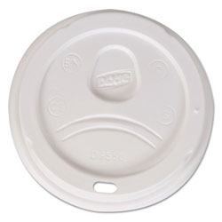 Dixie Plastic Dome Lid for Hot Cups, White