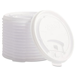 Dixie Clear Tear Back Lids for 12/16 oz Hot Cups