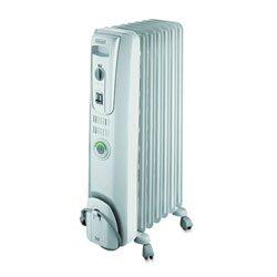 Delonghi ComforTemp Oil-Filled Radiator, Off-White, 13.8 x 9.1 x 25.2