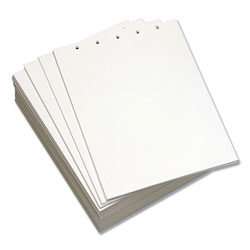 "Domtar Bulk 8 1/2"" x 11"" 5-Hole Top Custom Cut Sheets, White"