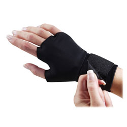 Dome Publishing Company Support Glove, w/ Wrist Strap, Medium, Black