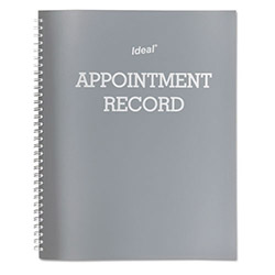 "Dome Publishing Company Spiral Appt Book, Undated, No Refill, 120 Page, 8 1/2"" x 11"" Gray"