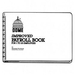 "Dome Publishing Company Payroll Books, 1 25 Employees, 10""x6 1/2"", Green"