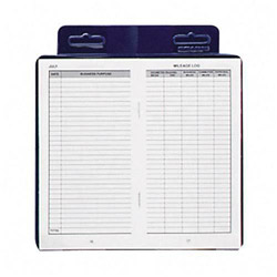 "Dome Publishing Company Deluxe Automobile Mileage Log Book, 3 1/4""x6 1/4"", Blue"