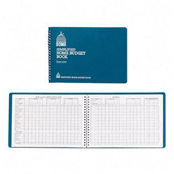 "Dome Publishing Company Home Budget Book, 64 Pages, 10 1/2""x7 1/2"", Teal"