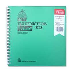 "Dome Publishing Company Tax Deduction File, w/ Pockets, 11""x9-3/4"""