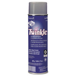 Diversey Twinkle Stainless Steel Cleaner & Polish, 17oz Aerosol, 12/Carton