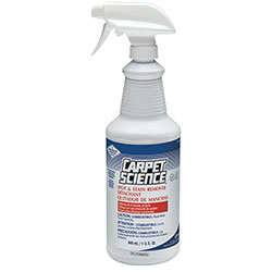 Carpet Science® Spot And Stain Remover, 32oz Spray Bottle, 6/Carton