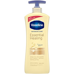 Vaseline® Intensive Care Essential Healing Body Lotion, w/Vitamin E, 20.3oz, Pump Bottle