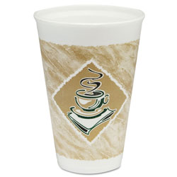 Dart Container 16X16G Café G Design Foam Cups, 16 Ounce