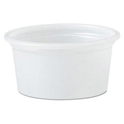 Solo Polystyrene Portion Cups, .75oz, Translucent, 250/Bag, 20 Bags/Carton