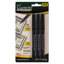 Drimark Counterfeit Bill Detector Pen for use with U.S. Currency, 3/Pack