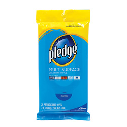 Pledge Disinfecting Wipes, 12 Packs of 25