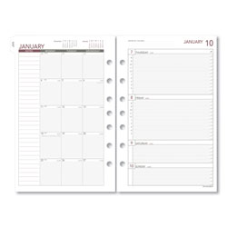 Day Runner Weekly Planning Pages Refill, 5 1/2 x 8 1/2, 2018