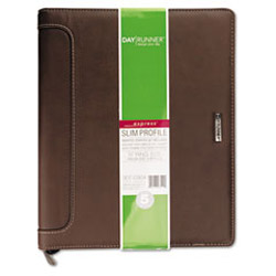 "At-A-Glance Harrison Slim-Profile Organizer, One Week/Spread, 8 1/2"" x 11"", Brown"